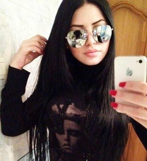 Фото девушек одинаковые на аву с чёрными волосами