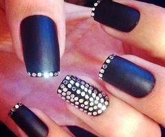 Дизайн ногтей со стразами фото на короткие