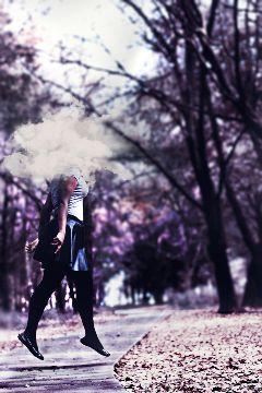 nikon self portrait levitation purple cloud