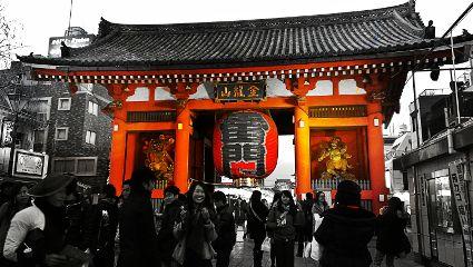 tokyo japan asakusa amazing color splash retro
