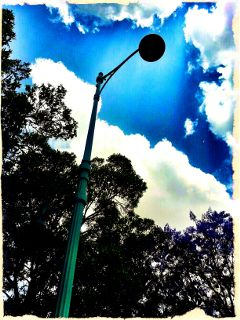 clouds sky lamp street light photography tree