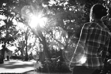 black & white flare light nikon sun