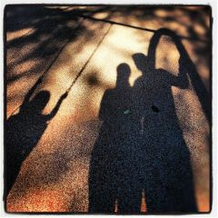 shadow silhouette family