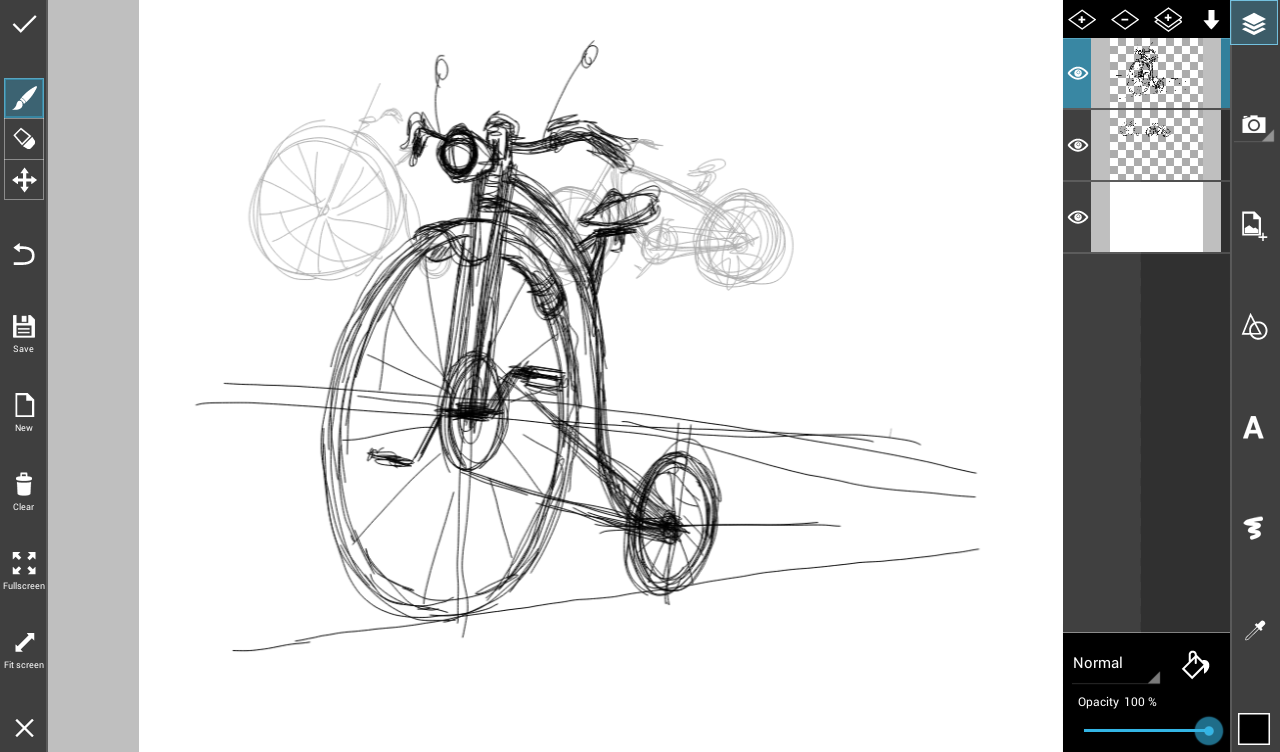 Line Art Picsart : Step by tutorial on how to draw a bike with picsart