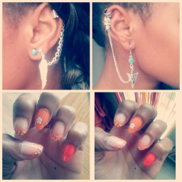 swag style oreille cool beautiful photography swagm swagybougy style swaggirl swaggirlpage swagboy swagfrench swaggirlswag swag look cute nail avon nailart point flow different couleur earings piercing bleu sun suismoi followme aile oreille photography photographie phone moi me