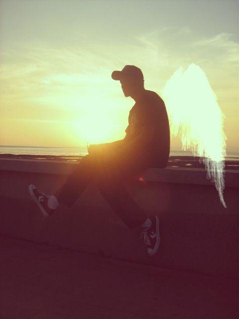 people beach sunset photography