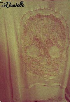 vintage sepia skulls