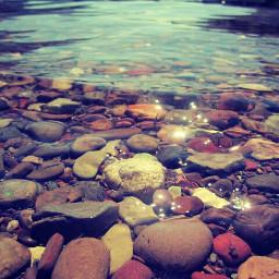 rocks beach canada lake edit